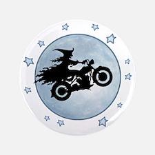 "witch-biker-moon-T 3.5"" Button"
