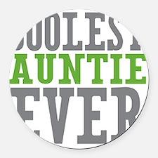 Coolest Auntie Round Car Magnet