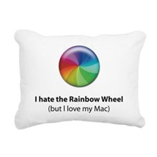 Rainbow Wheel Rectangular Canvas Pillow