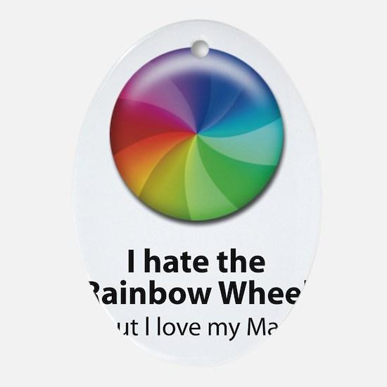 Rainbow Wheel Mug Oval Ornament