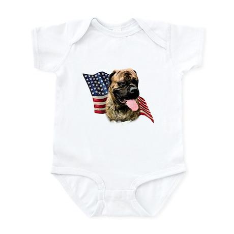 Bullmastiff Flag Infant Bodysuit