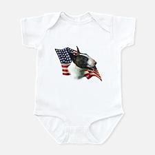 Bull Terrier Flag Infant Bodysuit