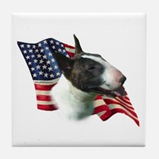 Bull Terrier Flag Tile Coaster