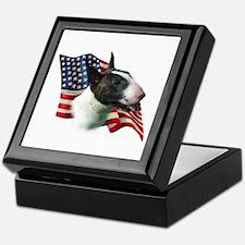 Bull Terrier Flag Keepsake Box