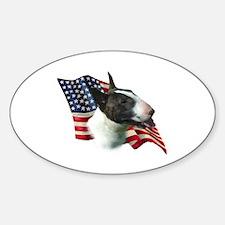 Bull Terrier Flag Oval Decal