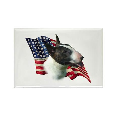 Bull Terrier Flag Rectangle Magnet
