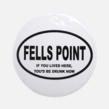 Fells Point Ornament (Round)