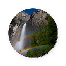 Yosemite Falls double moonbow edited Cork Coaster
