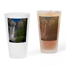 Yosemite Falls double moonbow edite Drinking Glass
