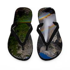 Yosemite Falls double moonbow edited Flip Flops