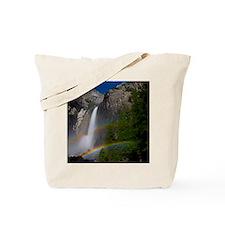 Yosemite Falls double moonbow edited Tote Bag
