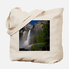 Yosemite Falls double moonbow edited Tote Bag