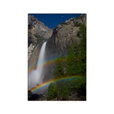 Yosemite Falls double moonbow edi Rectangle Magnet