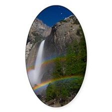Yosemite Falls double moonbow edite Decal