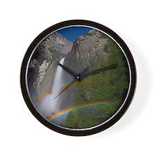 Yosemite Falls double moonbow edited Wall Clock