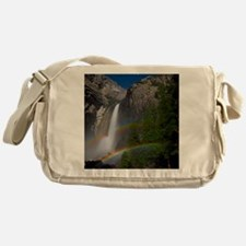 Yosemite Falls double moonbow edited Messenger Bag
