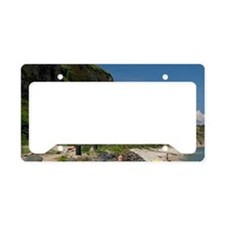 Visitors at Omaha Beach on th License Plate Holder
