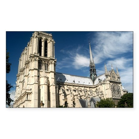 Notre Dame Rectangle Sticker
