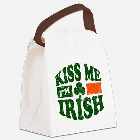 Kiss Me Im Irish 9884736 Canvas Lunch Bag