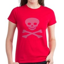 Pink Skull and Crossbones Tee