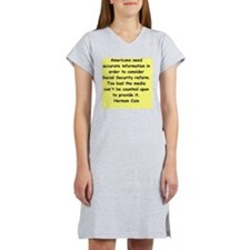 herman cain Women's Nightshirt