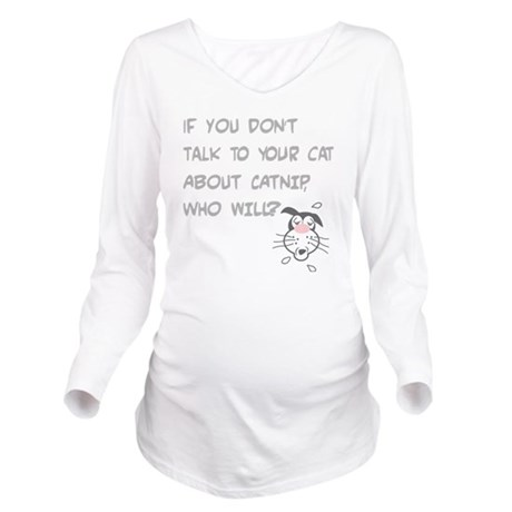 catnip cat Dv 10711 Long Sleeve Maternity T-Shirt