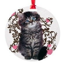 9976452442Floralkitty Ornament