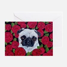 Mouse PugValentine Greeting Card