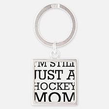 sarah_palin_hockey Square Keychain