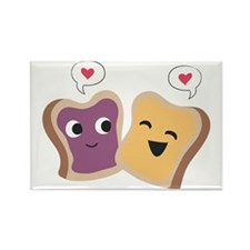 Peanut Butter  Jelly Love Rectangle Magnet