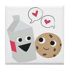 Milk  Cookie Love Tile Coaster