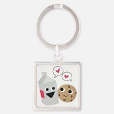 Milk  Cookie Love Square Keychain
