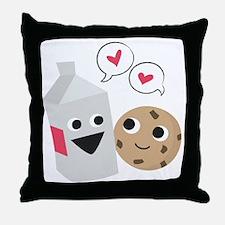 Milk  Cookie Love Throw Pillow
