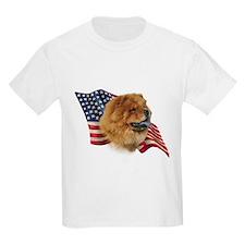 Chow Chow Flag Kids T-Shirt
