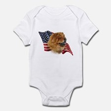Chow Chow Flag Infant Bodysuit