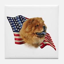 Chow Chow Flag Tile Coaster