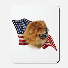 Chow Chow Flag Mousepad