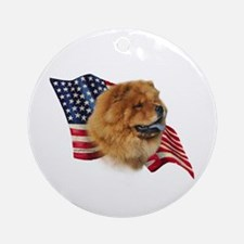 Chow Chow Flag Ornament (Round)