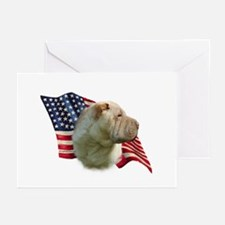 Shar-Pei Flag Greeting Cards (Pk of 10)