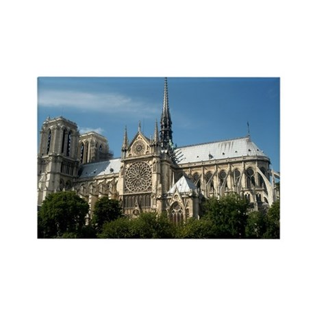 Notre Dame Rectangle Magnet