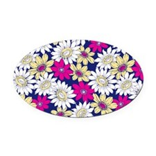Sunflower Oval Car Magnet