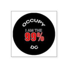 """occupy-dc Square Sticker 3"""" x 3"""""""