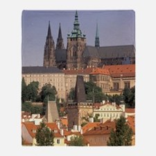 Charles Bridge and Prague Castlehemi Throw Blanket
