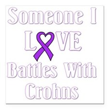"Crohns01-dark Square Car Magnet 3"" x 3"""