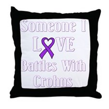 Crohns01-dark Throw Pillow