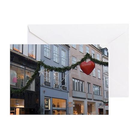 Denmark, Copenhagen, Stroget Amagert Greeting Card