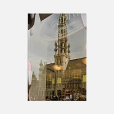 Belgium, Brussels, Grand Place, G Rectangle Magnet