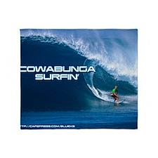 Calender Surfing 4 Throw Blanket