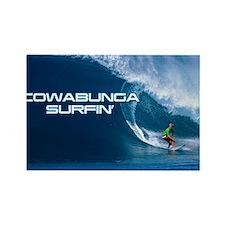 Calender Surfing 4 Rectangle Magnet