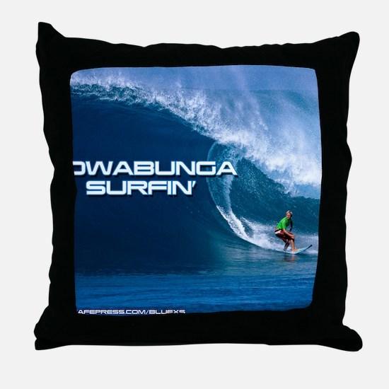 Calender Surfing 4 Throw Pillow